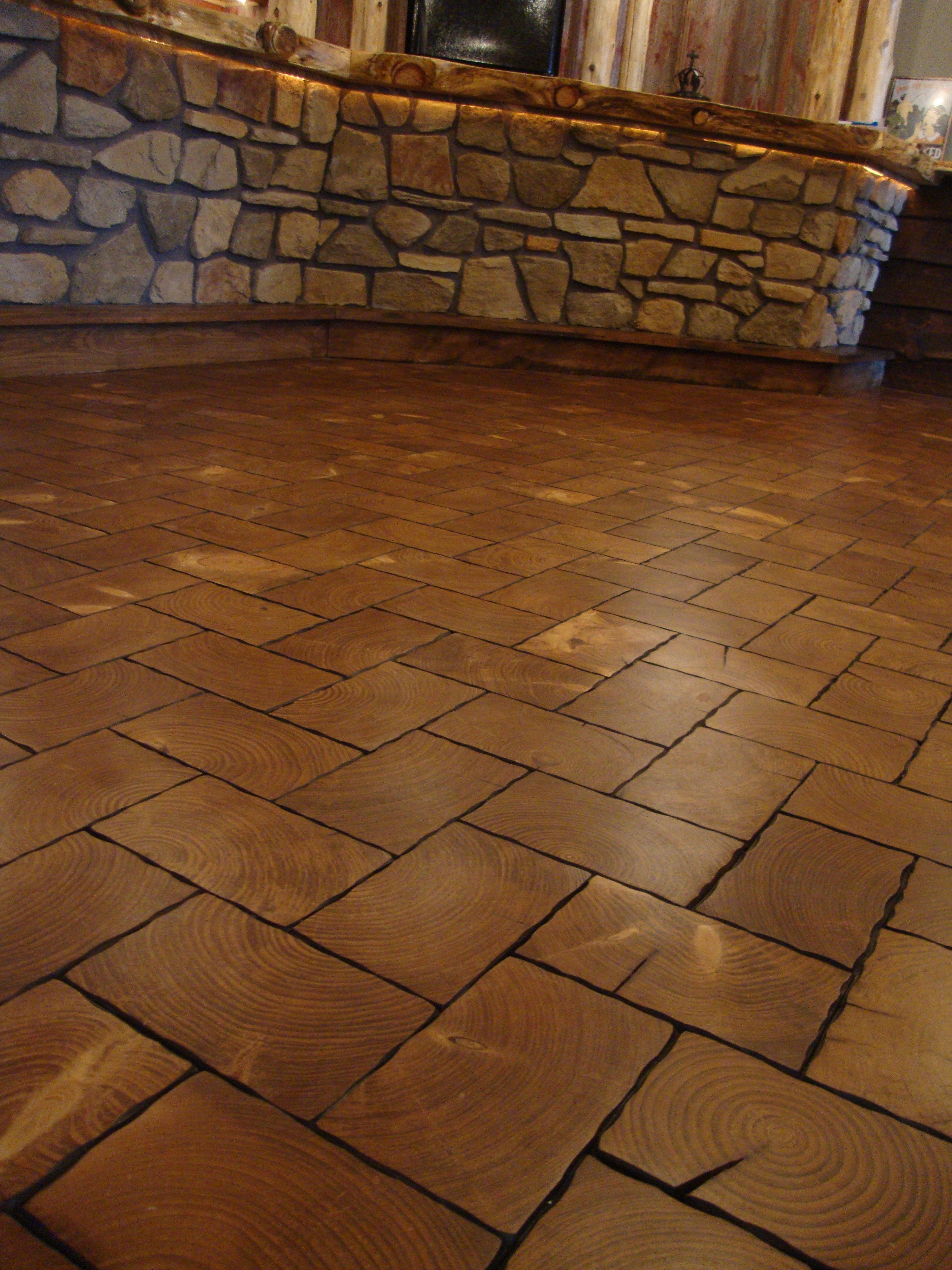 Pine End Grain Brick Floors