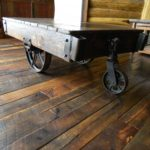 Factory Cart on Reclaimed Original Face Oak Flooring