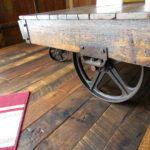 Industrial Factory Cart on a Reclaim Original Face Custom Wood Floor