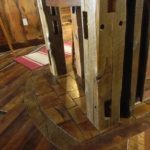 Reclaimed End Grain Brick Accents under Isalnd
