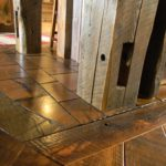Reclaimed End Grain and Original Face Oak L