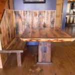 Reclaimed Table and Reclaimed Bench on Reclaimed Fir Flooring