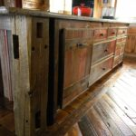 Reclaimed Wood Cabinetry and Reclaimed Mixed Oak Custom Wood Flooring