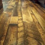 3, 5, 7 inch Random Carriage House Pine Rustic Floor with Soft Scrape Edges