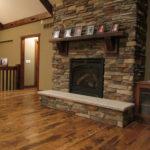3x 10 Reclaim Pine Mantle with Character Skip Sawn White Oak Flooring