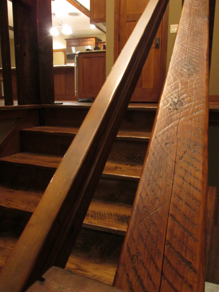 4 X 6 Reclaimed Pine Handrail Stair Parts