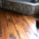 9 inch Circle Skip Sawn Carriage House Pine Wide Plank Flooring