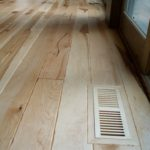 Average 8 Foot Long Character Maple Flooring with Maple Vents