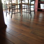 Black Walnut Flooring with Hard Scrape Edge and Skip Sawn Face