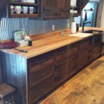 Carriage House Pine Flooring with Reclaim Cabinets