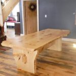 Carriage House Pine Wood Flooring with Custom Pine Table