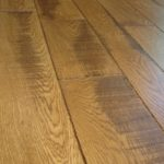 Character Band Sawn Skip White Oak Flooring with Hard Scrape Edge