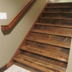 Character Circle Skip Sawn White Oak Custom Stair Parts