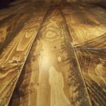Character Skip Sawn Pine Wood Flooring with Soft Scrape Edges