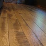 Character Skip Sawn White Oak Flooring with Hard Scrape Edge Details