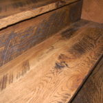 Character Skip Sawn White Oak Stair Treads and Risers