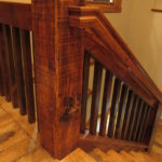 Character Skip Sawn White Oak Treads and Risers with Relcaim Pine Ballusters, Handrails and Posts