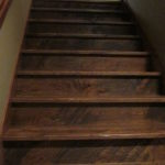 Character Skip Sawn White Oak Treads with Draw Knife Front Edge