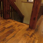 Character White Oak Skip Sawn Floor with Reclaim Pine Ballusters