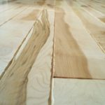Character Wild Maple Floor with a Sculpted Edge Shaped in Place