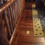 Circular Skip Sawn Hickory Floor