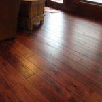 Circular Skip Sawn Hickory Wide Plank Floor