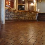 Cobble Stone Pine Floor and Bar