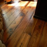 Custom Carriage House Pine Wide Plank Flooring with Quirk Gap