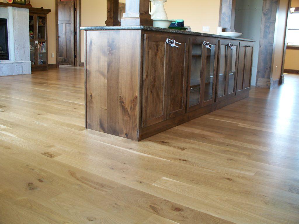 Custom Wide Plank Mixed Width White Oak Flooring