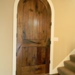 Extreme Character Walnut Entry Door with Walnut Flooring