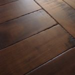 Hard Scrape Edge Detail on Character Band Sawn Skip Walnut Floor