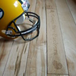 Mixed Width Character Wild Maple Wood Floors with Soft Scrape Edge Detail