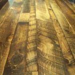 Mixed Width Skip Sawn Pine Floor with Soft Scrape Edges