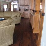 Multiple Width Skip Sawn Hickory Hardwood Flooring