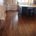 Multiple Width Skip Sawn Hickory Wide Plank Wood Flooring