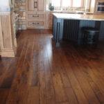 Multiple Width Skip Sawn Hickory Wide Plank Wood Flooring