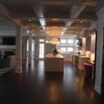Premium Walnut 6 inch Wide Flooring and Painted Millwork