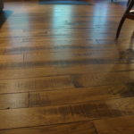 Rustic Band Sawn Skip White Oak Flooring with Hard Scrape Edge Detail