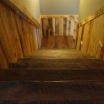 Skip Sawn Hickory Treads Full of Texture