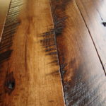 Skip Sawn Hickory with a Hard Scrape Edge