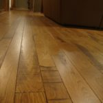 Skip Sawn White Oak Floor with a Hard Scrape Edge