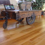 Square Edged Wild Maple Wide Plank Flooring in a Cabin