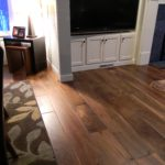 Wide Plank Walnut Floor with Soft Scraped Edges