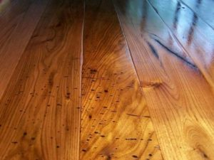 Wormy Butternut Wide Plank Floors