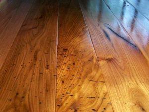 Wormy Butternut Wide Plank Floors
